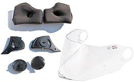 Visors & Spare Parts & Replacement Paddings etc.